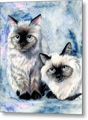 Himalayan Duo Metal Print by Sherry Shipley