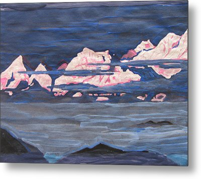 Metal Print featuring the painting Himalayas Of India by Vikram Singh