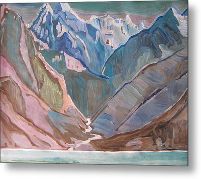 Metal Print featuring the painting Himalayas by Vikram Singh