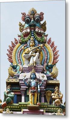 Hindu Temple Gopuram India Metal Print by Tim Gainey