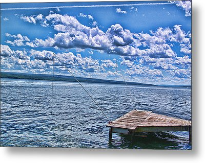 Hint Of Fall In The Clouds Metal Print