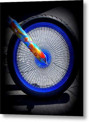Metal Print featuring the photograph Hippie Bike by Laurie Perry