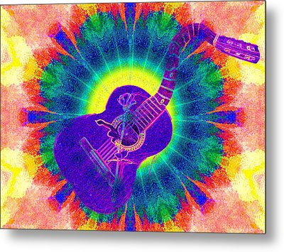 Hippie Guitar Metal Print by Bill Cannon