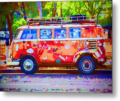 Metal Print featuring the photograph Hippie Van by Jaki Miller