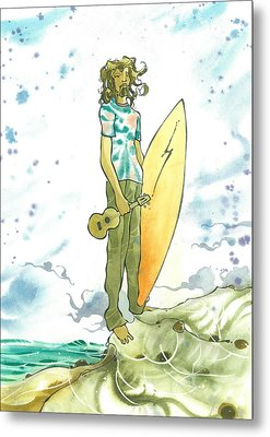 Hippy Surf Metal Print