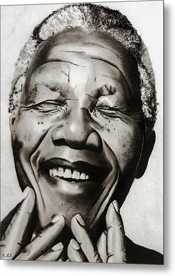 His Excellency Nelson Mandela Metal Print by Brian Broadway