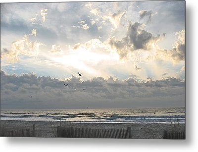 His Glory Shines Metal Print