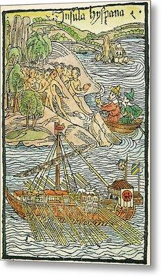 Hispaniola Trading, 1493 Metal Print by Granger