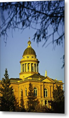 Historic Auburn Courthouse 5 Metal Print by Sherri Meyer
