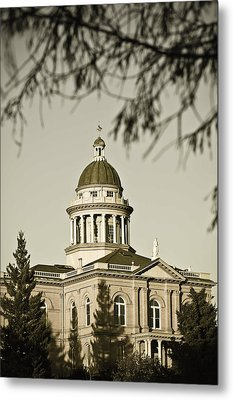 Historic Auburn Courthouse 6 Metal Print by Sherri Meyer