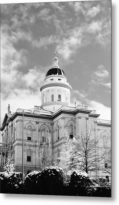 Historic Auburn Courthouse 8 Metal Print by Sherri Meyer