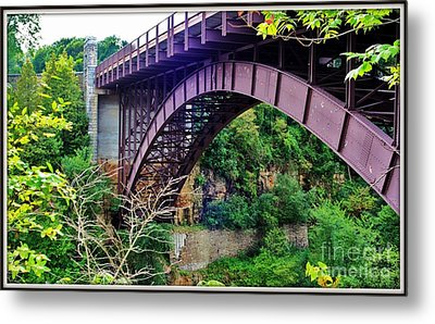 Historic Ausable Chasm Bridge Metal Print by Patti Whitten