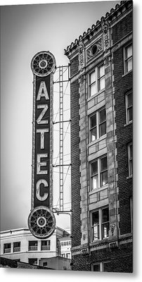 Historic Aztec Theater Metal Print by Melinda Ledsome