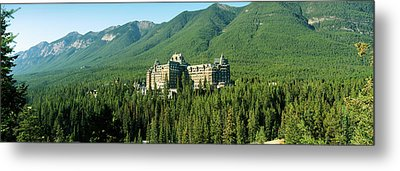 Historic Banff Springs Hotel In Banff Metal Print