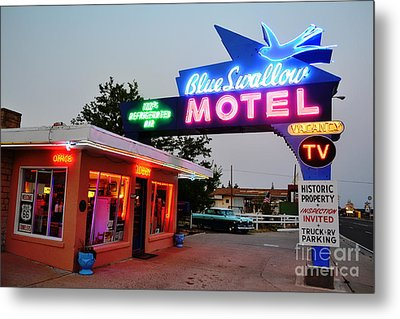 Metal Print featuring the photograph Historic Blue Swallow by Utopia Concepts
