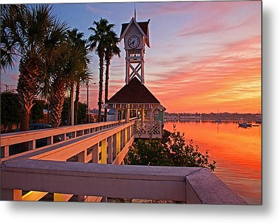 Historic Bridge Street Pier Sunrise Metal Print by HH Photography of Florida