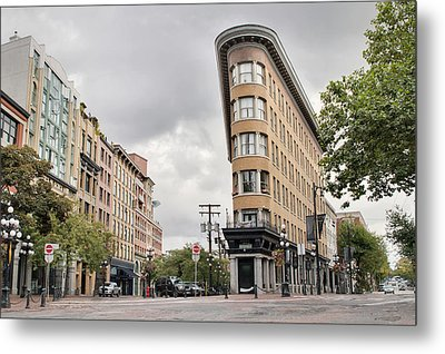 Historic Buildings In Gastown Vancouver Bc Metal Print by David Gn