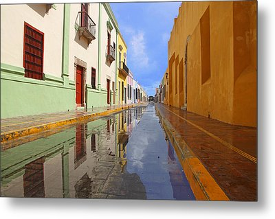 Metal Print featuring the photograph Historic Campeche Mexico  by Susan Rovira