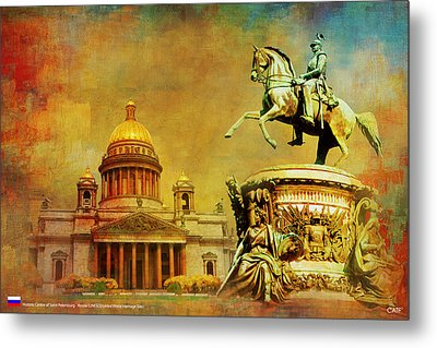 Historic Center Of Saint Petersburg Metal Print
