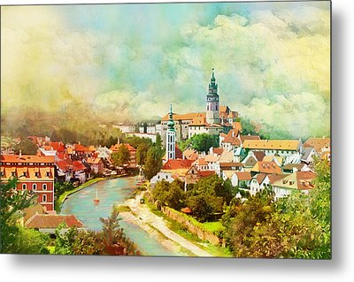 Historic Centre Of Cesky Krumlov Metal Print