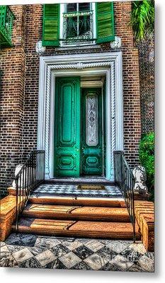 Historic Charleston Sc Door Metal Print by Dale Powell