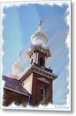 Historic Church Steeples Metal Print by Bobbee Rickard