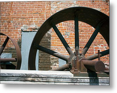Historic Flour Mill Machinery Metal Print