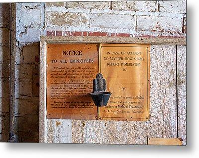 Historic Flour Mill Notice Metal Print