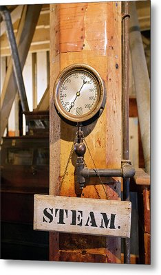 Historic Flour Mill Steam Gauge Metal Print
