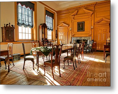Historic Governor Council Chamber Metal Print by Olivier Le Queinec