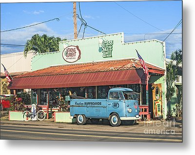 Historic Haleiwa Surf Town On The North Shore Of Oahu Metal Print by Aloha Art