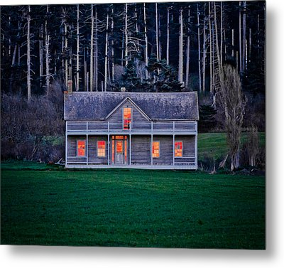 Historic Home At Sunset Metal Print by Winston Likert