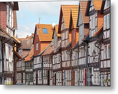 Historic Houses In Germany Metal Print by Heiko Koehrer-Wagner