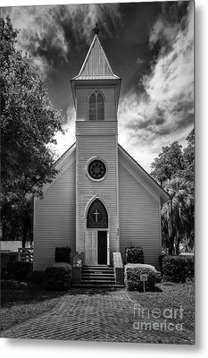 Historic Mcintosh Methodist Church Metal Print by Lynn Palmer