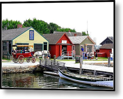 Historic Mystic Seaport Metal Print by Dora Sofia Caputo Photographic Art and Design