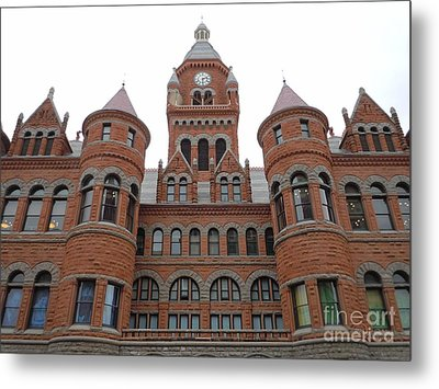 Metal Print featuring the photograph Historic Old Red Courthouse Dallas #1 by Robert ONeil