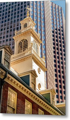 Historic Old State House Of Boston Metal Print by Thomas Schoeller