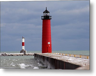 Metal Print featuring the photograph Historic Pierhead Lighthouse by Kay Novy