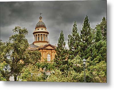 Metal Print featuring the photograph Historic Placer County Courthouse by Jim Thompson