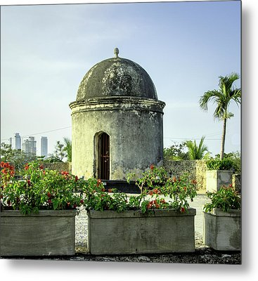 Historic Spanish Colonial Walls Metal Print by Jerry Ginsberg