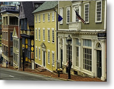 Historic Street In Providence Ri Metal Print