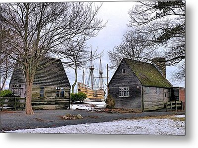 Historic Waterfront Metal Print by Janice Drew