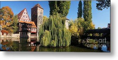 historic winestorage and executioner bridge in Nuremberg Metal Print by Rudi Prott