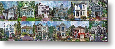 Historical Homes Metal Print by Linda Weinstock