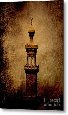 Metal Print featuring the photograph Historical Minaret In Cairo by Mohamed Elkhamisy