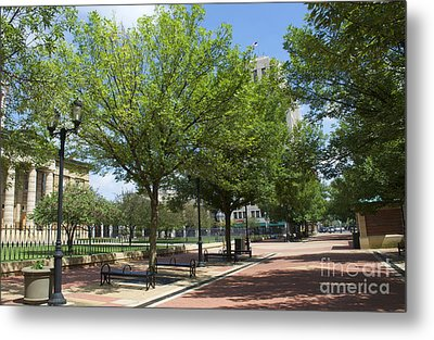 Lincoln Square Springfield Il - Luther Fine Art Metal Print