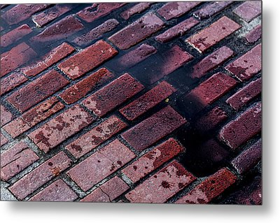 Hit The Bricks Metal Print by Andrew Pacheco