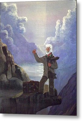 Metal Print featuring the painting Hitchhiker by Richard Faulkner