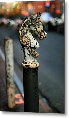 Metal Print featuring the photograph Hitching Post #1 by Heather Green