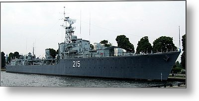 Hmcs Haida Twin Gun Tribal Class Destroyer  Metal Print by Danielle  Parent